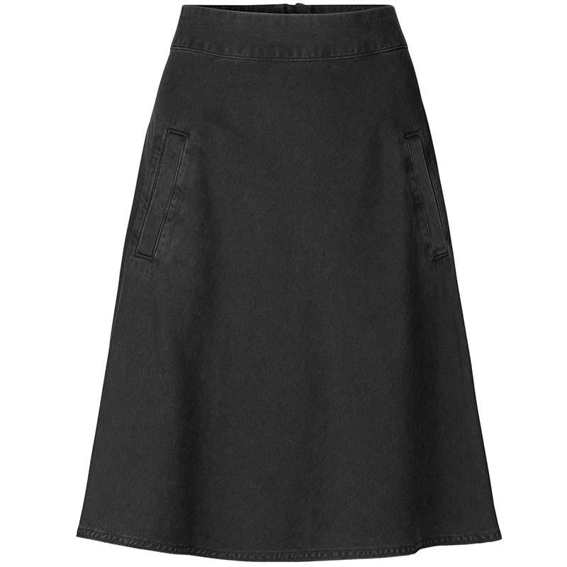 mads nørgaard – Mads nørgaard nederdel, stelly, washed black fra superlove