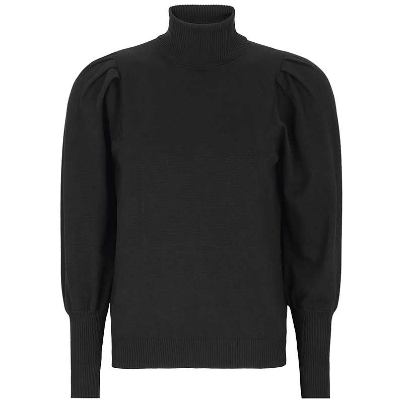 Soft Rebels Strik, Leana, Black Roll neck pullover Soft Rebels
