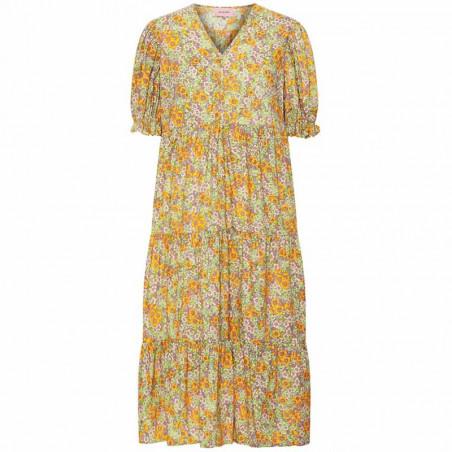 Hunkøn Kjole, Nellie, Yellow Floral hunkøn tøj