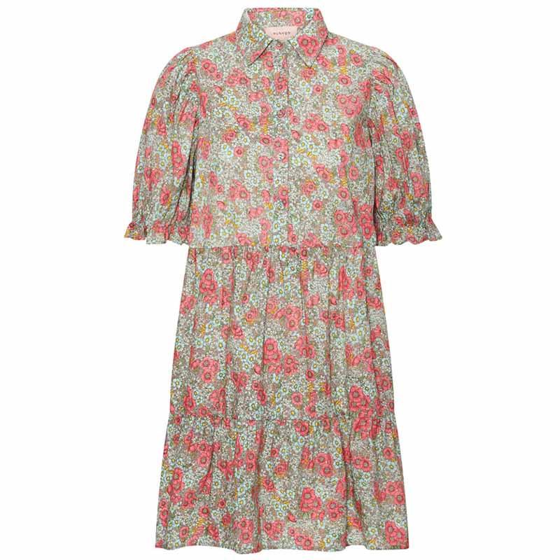 Hunkøn Kjole, Caroline, Pink Floral hunkøn tøj