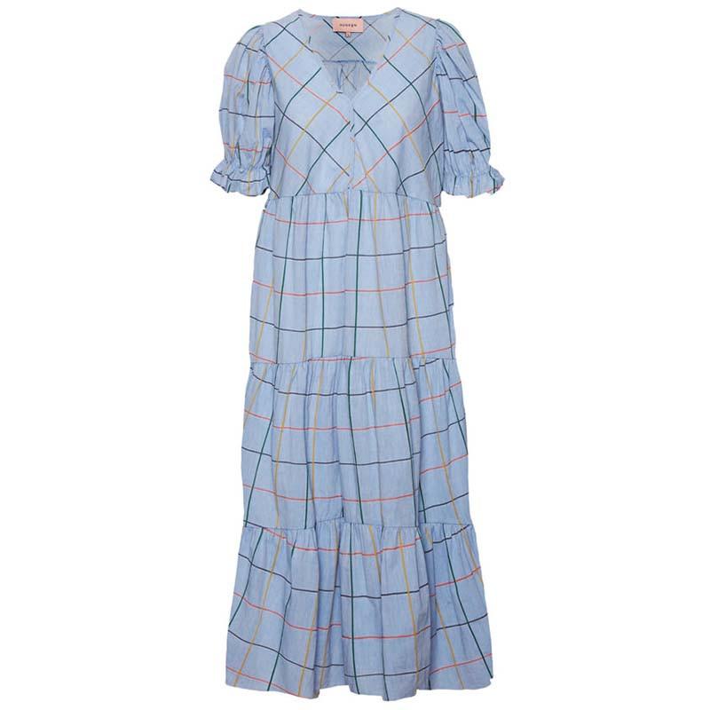 Hunkøn Kjole, Amalie, Blue Check Hunkøn tøj