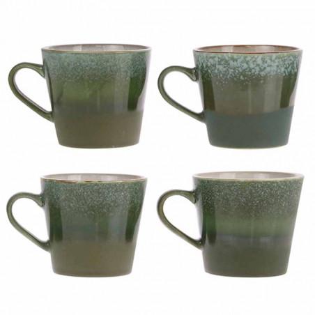 HK Living Krus, Ceramic 70's Cappuccino, Grass - keramik krus - varianter