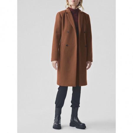 Modström Jakke, Odelia, Mocha Bisque Odelia Coat Modstrøm frakke på model