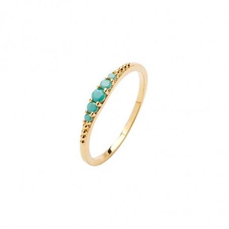 Pico Ring, Aisha, guld med Opac Green sten. Pico fingerring