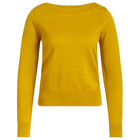 King Louie Bluse, Audrey Organic, Curry Yellow, King Louie top Organic Cottonclub