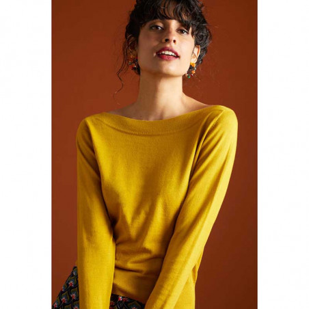 King Louie Bluse, Audrey Organic, Curry Yellow, King Louie top Organic Cottonclub look