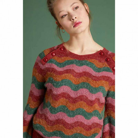 King Louie Sweater, Sailor Knit Top Sandou, Mellow Rose på model forfra