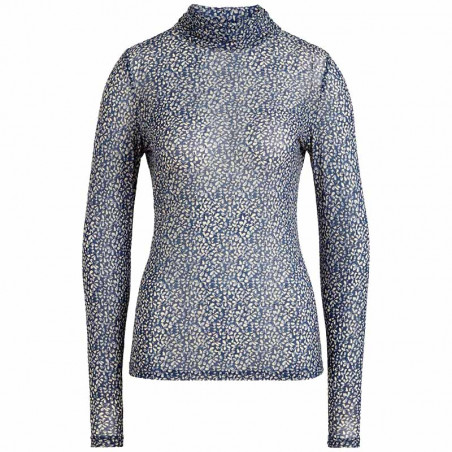 King Louie Bluse, Betsy Top Rollneck Moonlight, Tokyo Blue