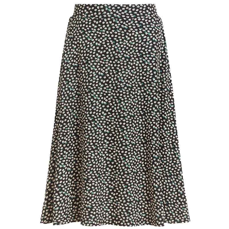 King Louie Nederdel, Sofia Midi Skirt Sevres, black