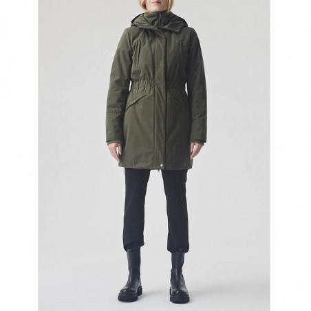Modström Jakke, Denise, Dark Army, coat på model forfra hele kroppen