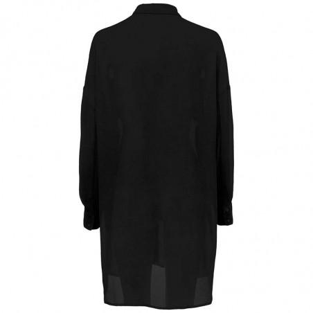 Modström Skjorte, Forest Shirt, Black bagfra