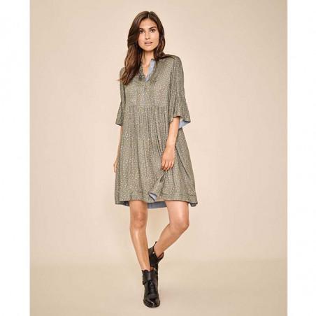 Mos Mosh Kjole, Amanda Flower Dress, Duffel Bag på model
