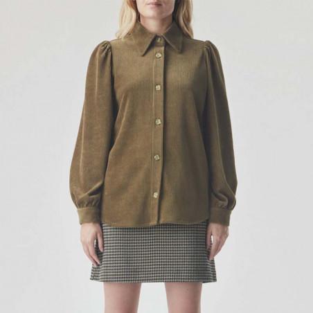 Modström Skjorte, Freya shirt, Bronze på model forfra
