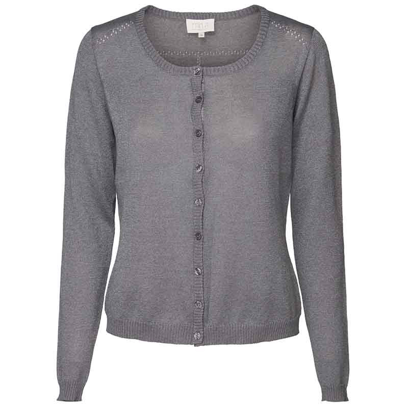 Minus Cardigan, New Laura, Steel Grey Lurex