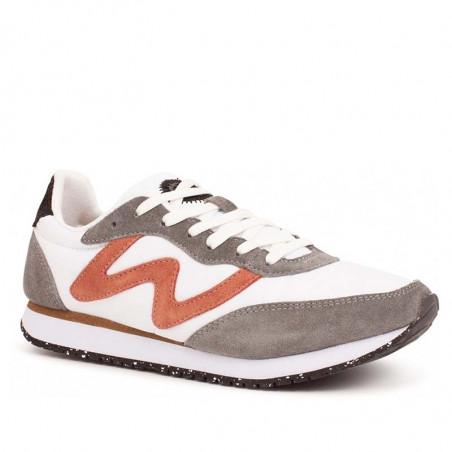 Woden Sneakers dame, Olivia II, Autumn grey/white woden sko dame woden side