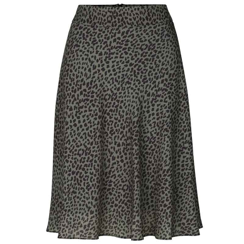 Mads Nørgaard Nederdel, Recina Crepe Jungle, skirt Army-Black