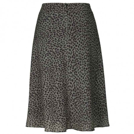 Mads Nørgaard Nederdel, Recina Crepe Jungle, skirt Army-Black bagfra