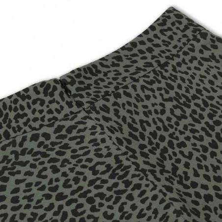 Mads Nørgaard Nederdel, Recina Crepe Jungle, skirt Army-Black tæt på detaljer