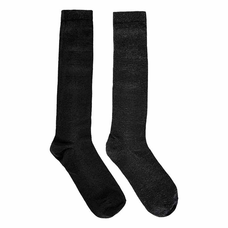 Nümph Strømper 2-pak, Nukingcity Knee, Sort/Grå Numph tøj