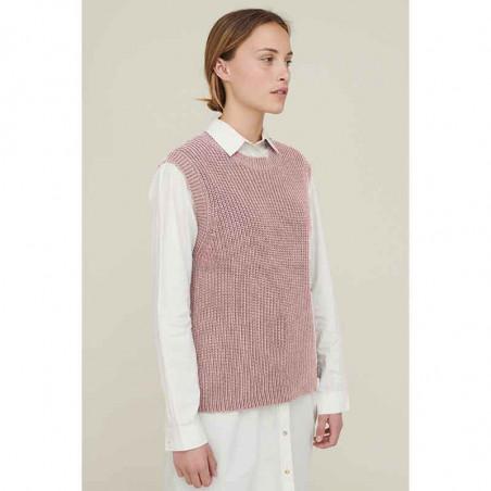 Basic Apparel Vest, Sweety, Pale Mauve, basic apparel, strikket vest MODEL