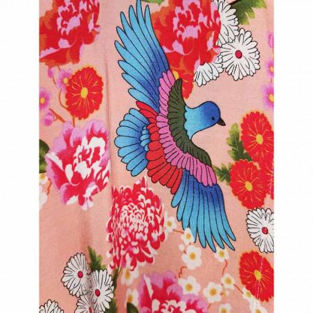 Hunkøn Skjorte, Charlot, Peach Hunkon Kimono print