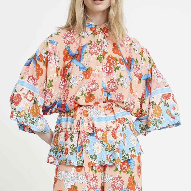 Hunkøn Skjorte, Charlot, Peach Hunkon Kimono