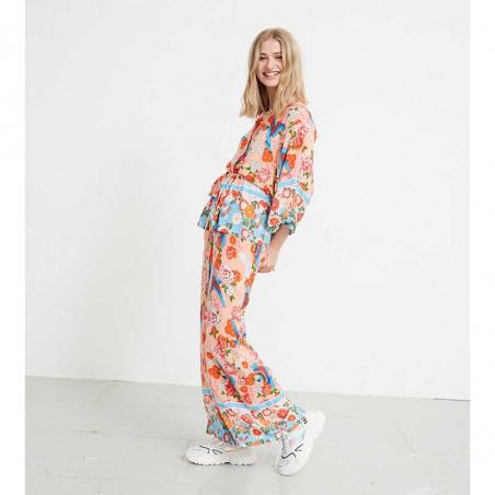 Hunkøn Bukser og kimono, Chalot, Peach på model