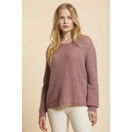 Sibin Linnebjerg Strik, Capri, Dark Nude Sibin Linnebjerg strikket sweater dame model
