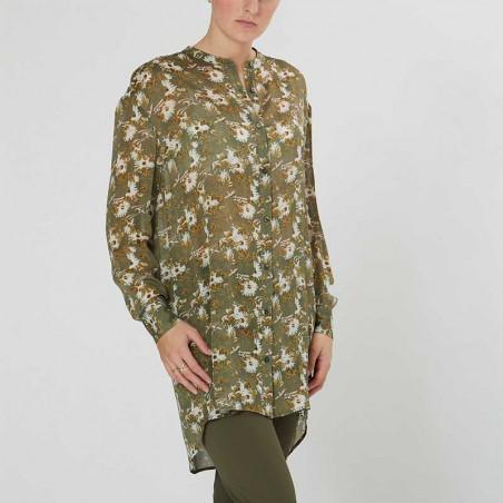 PBO Skjorte, Carna, Green Print model front