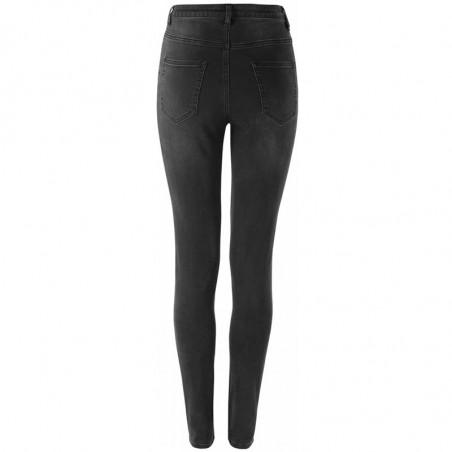 Soft Rebels Jeans, Highwaist Slim, Charcoal Black - Bagside
