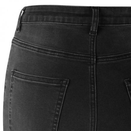 Soft Rebels Jeans, Highwaist Slim, Charcoal Black - Baglomme