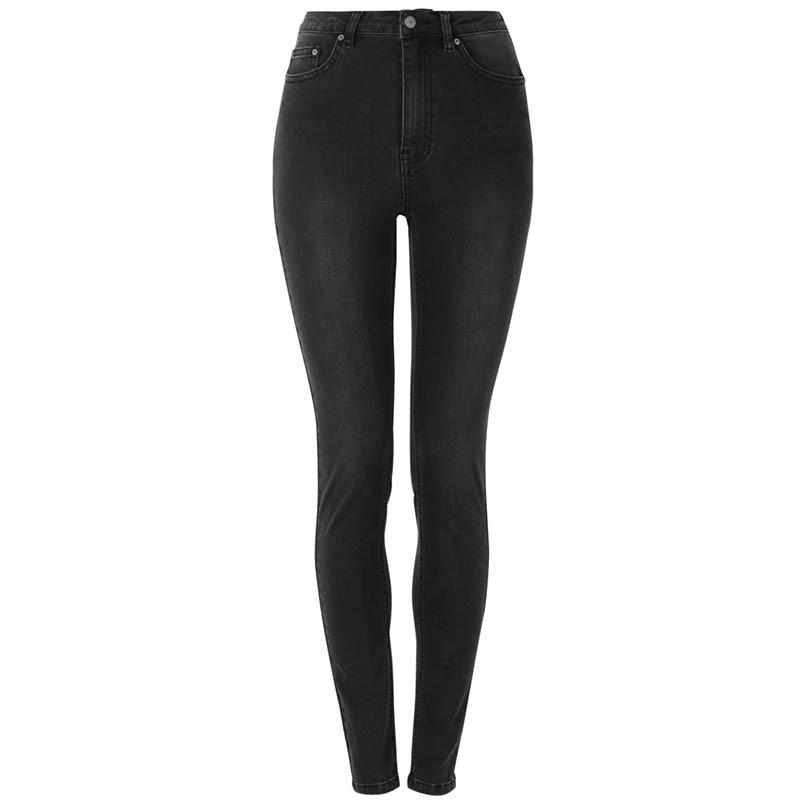 soft rebels Soft rebels jeans, highwaist slim, charcoal black på superlove