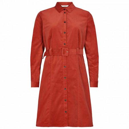 Nümph Kjole, Numaurya, Barn Red Numph kjole  Nümph tøj Skjortekjole