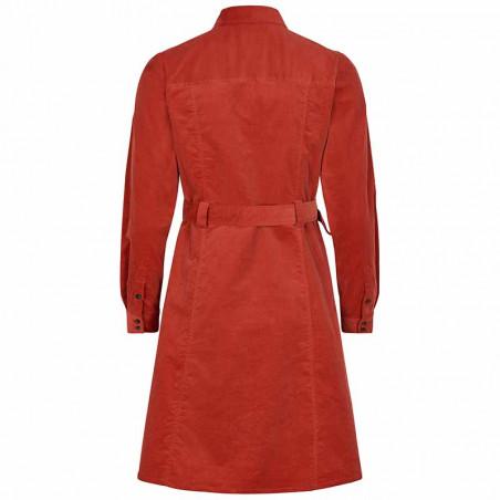 Nümph Kjole, Numaurya, Barn Red Numph kjole  Nümph tøj Skjortekjole i fløjl ryg