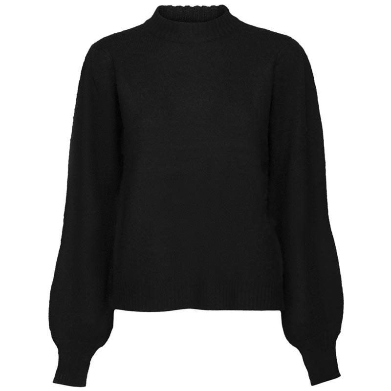 Minus Strik, Angie Knit Pullover, Black Minus tøj