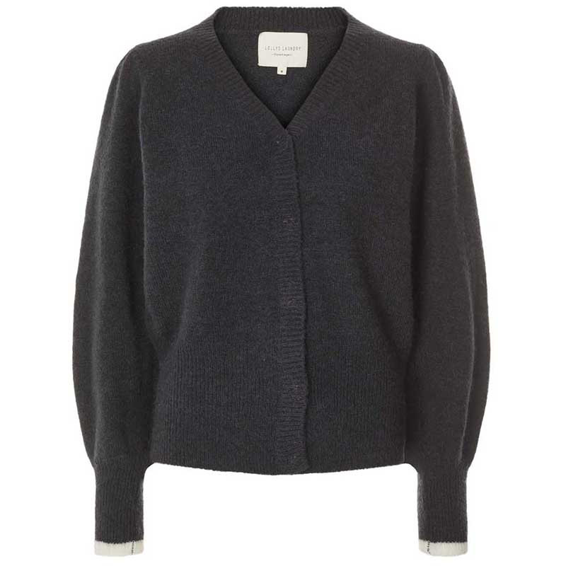 Lollys Laundry Cardigan, Laura, Washed Black