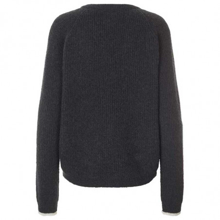 Lollys Laundry Strik, Aliza, Washed Black  Lollys Laundry Jumper Aliza knit Sweater ryg
