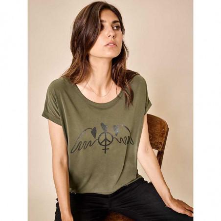 Mos Mosh T-shirt, Alba SS Tee, Duffel Bag bagfra på model forfra