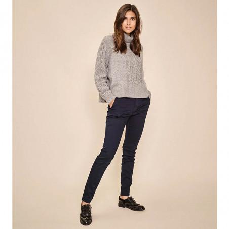 Mos Mosh Jeans, Blake DB, Dark Blue Mos Mosh bukser på model