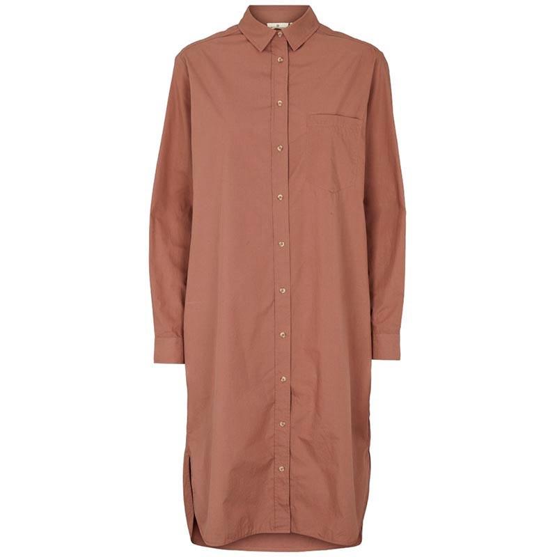 Billede af Basic Apparel Skjorte Kjole, Vilde Organic, Acorn