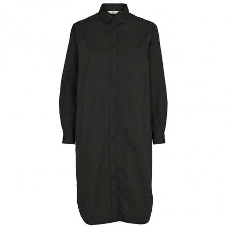 Basic Apparel Skjortekjole, Vilde Organic, Black Basic apparel shirt dress