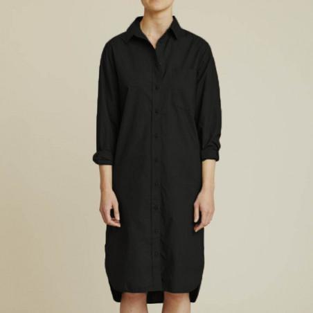 Basic Apparel Skjortekjole, Vilde Organic, Black på model