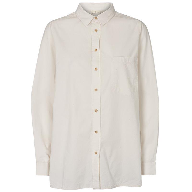 Basic Apparel Skjorte, Vilde Organic, Chalk