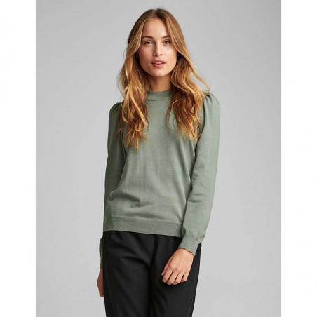 Nümph Bluse, Nubaojin, Agave Green pullover numph tøj på model