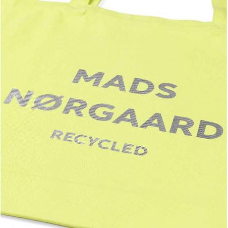 Mads Nørgaard Net, Athene Recycled, Blue Lime/Silver Mads Nørgård shopper detalje