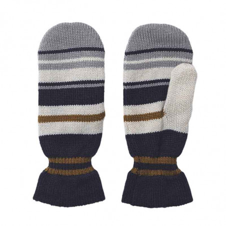 Beck Søndergaard Luffer, Striped Emerald Mittens, Blue