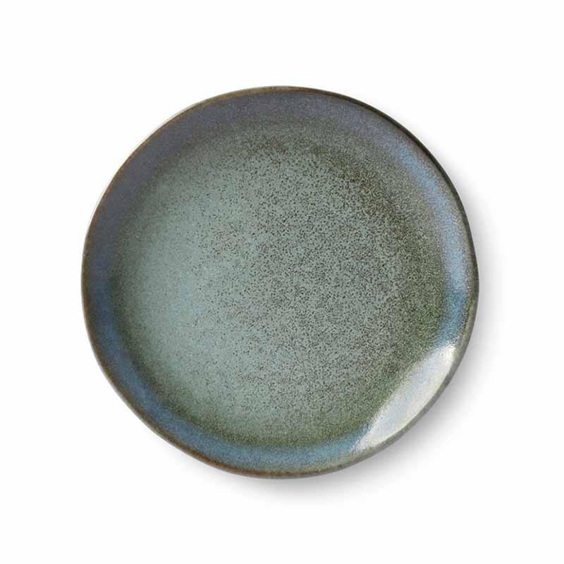 hk living Hk living dessert tallerkener, 70's ceramic, sæt af 2, moss fra superlove
