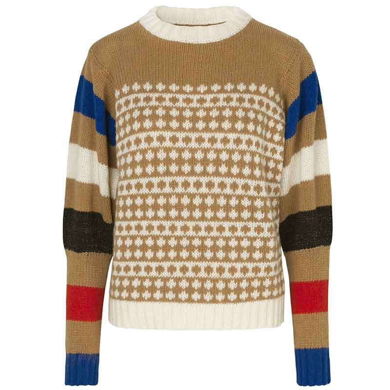 Mads Nørgaard Strik, Konny Recycled, Beige-Multi Mads Noergaard sweater recycled-iceland-konny-beigemulti