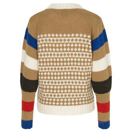 Mads Nørgaard Strik, Konny Recycled, Beige-Multi Mads Noergaard sweater recycled-iceland-konny-ryg