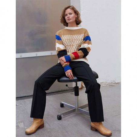 Mads Nørgaard Strik, Konny Recycled, Beige-Multi Mads Noergaard sweater recycled-iceland-konny-look